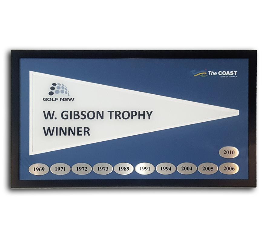 Golf Pennant Framing | Pennant Display Solutions | Sydney