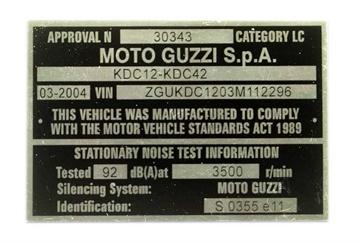 Vehicle Compliance Plates